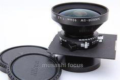 Nikon Nikkor SW 90mm F 4 5 s Lens w Black Copal 0 Linhof Board EXC 0018208013456   eBay