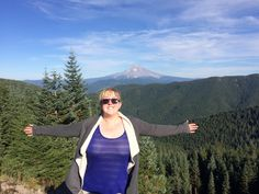 Hiking in Oregon near Wildcat Mountain, with Mount Hood behind me - one of the best views I've ever seen! © Sarah Murphy