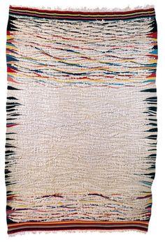 Flatweave rug by Bauhaus textile artist Otti Berger, c. 1930