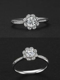 unique stunning flower shaped cubic zirconia silver promise ring http://www.jewelsin.com/p-shinning-cubic-zirconia-flower-silver-ring-247