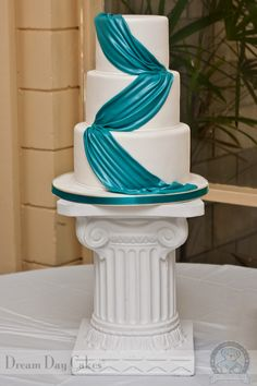 Teal Wedding Cakes | Gainesville Wedding Cake Gallery | Dream Day Cakes