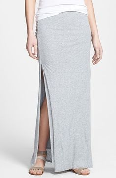 Soft Joie 'Dacie' Side Slit Jersey Maxi Skirt available at #Nordstrom