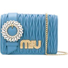 Designer Clothes, Shoes & Bags for Women Miu Miu Purse, Miu Miu Handbags, Blue Shoulder Bags, Shoulder Handbags, Miuccia Prada, Calf Leather, Luxury Fashion, Purses, Shoe Bag