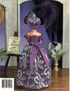 crochet a night at the opera fashion doll dress pattern fits barbie dolls designed