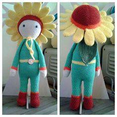 Sunflower Sam modification made by Sylvia K - crochet pattern by Zabbez