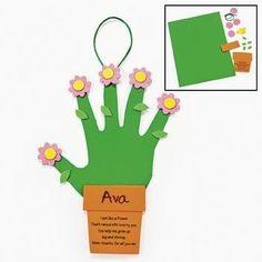 Handprint Flowers For Mom Craft Kit - Crafts for Kids & Decoration Crafts