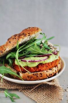 This Sweet Potato Burgers With Avocado-Lime Sauce recipe will leave you feeling super satisfied.
