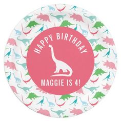 Personalize Preppy Dinosaur Birthday Party Plate  sc 1 st  Pinterest & Personalize Preppy Lion Safari Animal Birthday Paper Plate ...