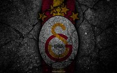 Download wallpapers Galatasaray, logo, art, Super Lig, soccer, football club, grunge, Galatasaray FC