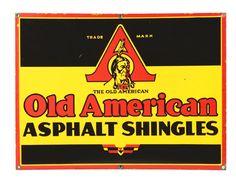 Old American Shingles Porcelain Sign.