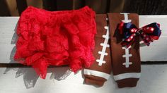 Houston TEXANS Baby Football Accessories by TheBeeInMe on Etsy, $16.00