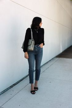 Ruffle Yoke Blouse | Kendi Everyday Jeans Fit, Mom Jeans, Skinny Jeans, Good Hair Day, Vintage Jeans, Everyday Fashion, Cool Hairstyles, Give It To Me, Normcore