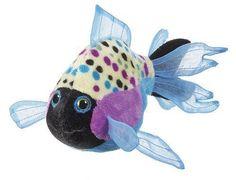 GANZ WEBKINZ Lil'Kinz Plush Stuffed Toy Animal Polka Back Fish HS524 Sealed code #GANZ