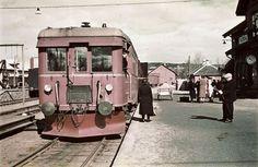 Verdal stasjon  Bildet er trolig fra siste halvdel av 1940-tallet.  Foto: Per Renbjør.
