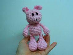 Little Bigfoot Piggy Crochet Pattern (easy amigurumi)