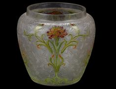 French. Circa 1900. Signed Daum Nancy with Crois of Lorraine on the underside.