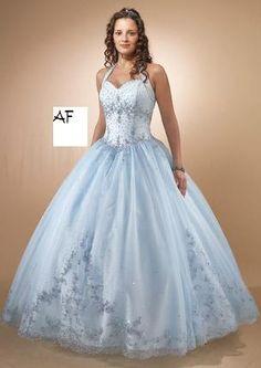 AF 1990 Blauwe trouwjurk