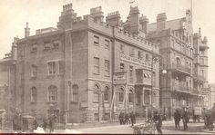 "The Poplar Hospital for Accidents (""the Dockers' Hospital"") opened in 1855 with 20 beds in a former Customs House across the road from the entrance gate to the East India Docks. It treated male workers injured in the East and West India Docks (and later Millwall Dock)."