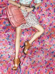 """""""Field Day"""": Accessories and Liberty Print Florals by Raymond Meier for Teen Vogue May 2010 Fashion Shoot, Editorial Fashion, Girl Fashion, Chloe Purses, Field Day, Liberty Print, Teen Vogue, Chloe Bag, Hottest Models"""