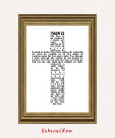 Psalm 23 The Lord is my shepherd - Bible art - Bible quote verse - Bible decor - Printable Wall Art - Instant download - Digital Art - --------------------------------------------------------------------------------------------------------- *****This is a digital artwork instant download***** *****You will receive high-resolution JPEG & PDF files***** ---------------------------------------------------------------------------------------------------------  This version of Psalm 23 will…