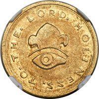 1849 $5 Mormon Five Dollar AU55 NGC. K-2, R.5