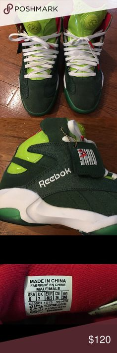 Reebok Shaq Attaq Ghost if Christmas sneaker Men's Reebok Shaq Attack Pump in green . Like new condition.Basketball shoes. Reebok Shoes Sneakers