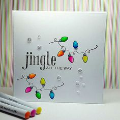 Want to know more about Handmade Christmas Cards Simple Christmas Cards, Christmas Doodles, Christmas Card Crafts, Homemade Christmas Cards, Xmas Cards, Homemade Cards, Christmas Lights, Cards Diy, Christmas Music