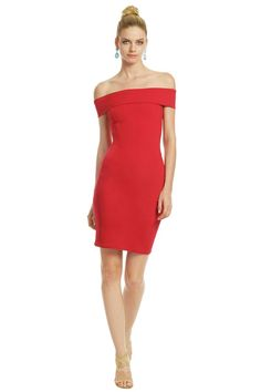 This short red sheath cocktail bridesmaid dress ready for cap carpet at any time. Red satin clings body finishing with off the shoulder bodice, and short sheath skirt. Zip back.  <br>
