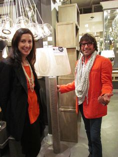 "Jennifer Mehditash pinning as a #StyleSpotter for #HPMkt - ""Whether you are designing a Beach House & Nautical theme or an Urban Loft in New York City this neutral tone ""rope"" floor lamp is a very sophisticated choice!"" By Laura Kirar with Mark Moussa of Arteriors IHFC H320."