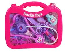 13 Pieces Pink Doctor Medical Kit Playset for Kids in Carry Case *** Check this awesome product by going to the link at the image.