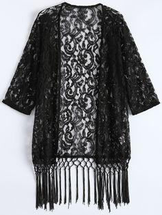 Lace Kimono Fringe Cover Up #CLICK! #clothing, #shoes, #jewelry, #women, #men, #hats