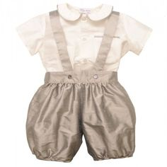 William Shirt & Romper Pants #boyschristening #christeningoutfit #christeningboysoutfit #babyboyschristeningoutfits #babyboysclothing #boysbaptism #boyschristeningclothes #boysspecialoccassionoutfit #babyboysoutfit   http://www.suehillchildrenswear.com/christening-baptism/boys-christening-outfits-rompers-gowns/baby-boy-silk-romper-christening-outfit.html