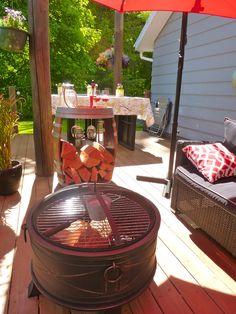 Wine Barrel Fire Wood Holder $395.00 Firewood Holder, Fire Wood, Barrel, Deck, Wine, Outdoor Decor, Home Decor, Decoration Home, Barrel Roll