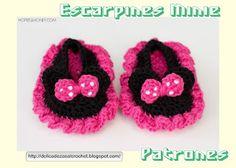 """Delicadezas en crochet Gabriela: Escarpines """"Minie"""""""