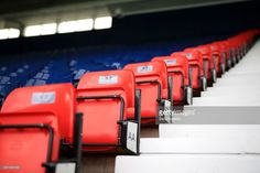 A view showing the 96 red seats installed in the ground to remember the victims of the Hillsborough disaster prior to the Barclays Premier League match between West Bromwich Albion and Liverpool at The Hawthorns on May 15, 2016 in West Bromwich, England.