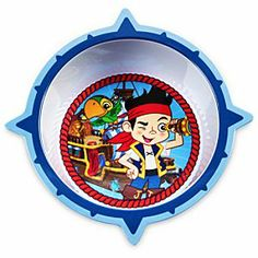 Disney Jake and the Never Land Pirates Bowl | Disney StoreJake and the Never Land Pirates Bowl - Our Jake and the Never Land Pirates Bowl will encompass every nutritious meal you serve up for your little sailor. Jake and Skully are waiting to share the bountiful booty of rations!