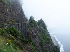 highway 101 the oregon coast | Following highway 101 along the Oregon coast, Manzanita, United States