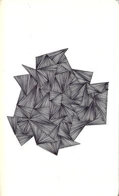 Illusion of flowing, but with straight lines that, it have a movement