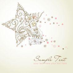 Beautiful Christmas Star illustration. Zentangle Inspiration.