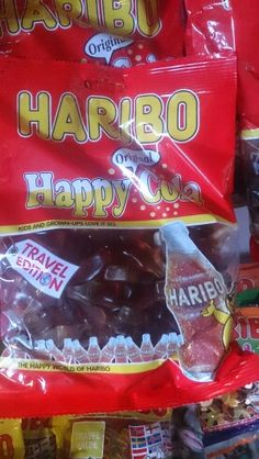 Gummy candy with cola flavour