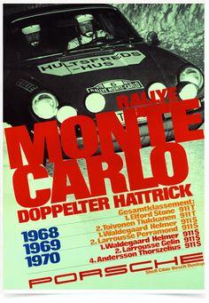 Poster Carros Porsche Rallye Monte Carlo - Decor10
