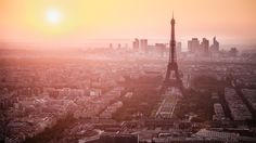 "Paris, France. ""Sunset Skyline Wallpaper"" by `NEOkeitaro on deviantART."