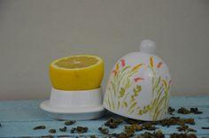 Pojemnik na Cytryne container lemon handmade painted