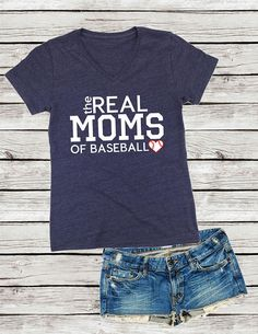 The Real Moms Of Baseball Shirt, Baseball Mom Game Day Shirt Great for all the Baseball Moms out there! Please include in the NOTES TO SELLER at checkout: 1. Color of wording (SEE COLOR CHART IN MAIN IMAGE LISTING) If you dont include the color then it can delay processing of the