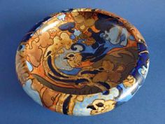 A stunning Bursley Ware Amstel bowl designed by Frederick Rhead for Wood and Sons Standing on four lion s paw feet and decorated inside and out with Art Nouveau Design, Art Deco, Lion Paw, English Pottery, Bowl Designs, Ginger Jars, Ceramic Vase, Tree Branches, Pottery Art