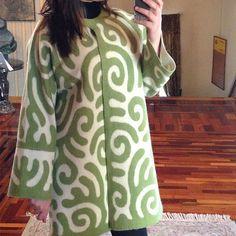 Fall-Winter Mantel Coat Merino Green от NomadHandmadeFashion