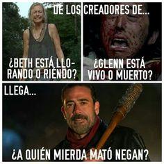 The Walking Dead 2, Walking Dead Memes, Glenn Y Maggie, Twd Memes, Netflix, Death, Lol, Chistes, Funny Humour