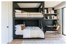 Double Bunk Beds, Bunk Beds Built In, Modern Bunk Beds, Queen Size Bunk Beds, Adult Bunk Beds, Bunk Beds For Adults, Boys Bedroom Ideas With Bunk Beds, Boys Loft Beds, Girls Bedroom