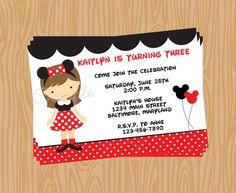 Minnie Mouse invite