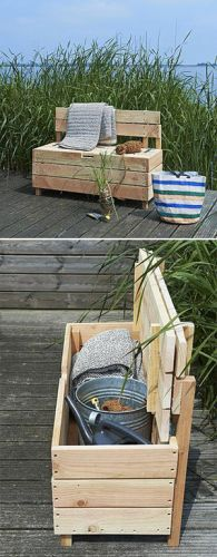 Build a simple garden storage bench
